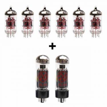 6x ECC83 and 2x EL34 matched valve kit