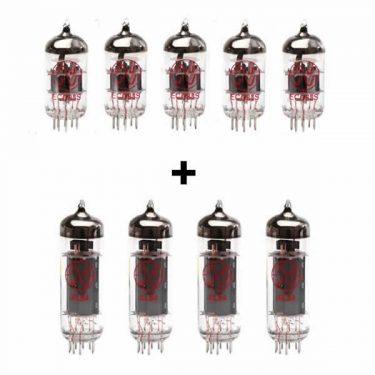 5x ECC83 and 4x EL84 matched valve kit