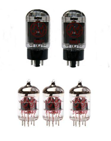 3x ECC83 and 2x 5881 matched valve kit
