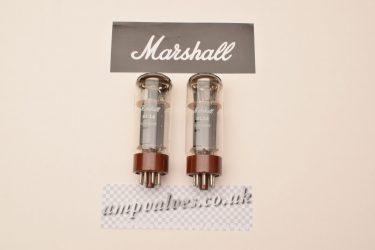 2 x Marshall matched EL34