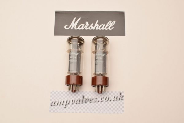 2 x Marshall matched EL34